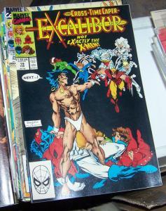 EXCALIBUR # 19 FEB 1990 MARVEL CROSS TIME CAPER PT 8+ X MEN PHOENIX NIGHTCRAWLER