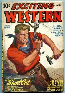 Exciting Western Pulp August 1946- GHOST RIDER- WC Tuttle VG
