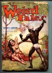 Weird Tales 4/1934-pulp fiction-spicy Good Girl Art-Brundage-CONAN