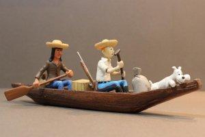 Figura TINTIN: Piragua (canoa) DE TINTIN de La oreja Rota