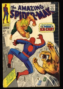 Amazing Spider-Man #57 VG+ 4.5 Ka-Zar!!