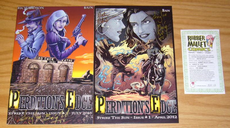 Perdition's Edge #1-2 VF/NM complete set - signed by creators with COA
