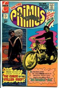 Primus #4 1972-Charlton-Ivan Tors-Robert Brown-motorcycle-VF