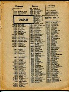 Epilogue #1 1970-George Jennings-1st issue-old time radio-Lum 'n' Abner-VG