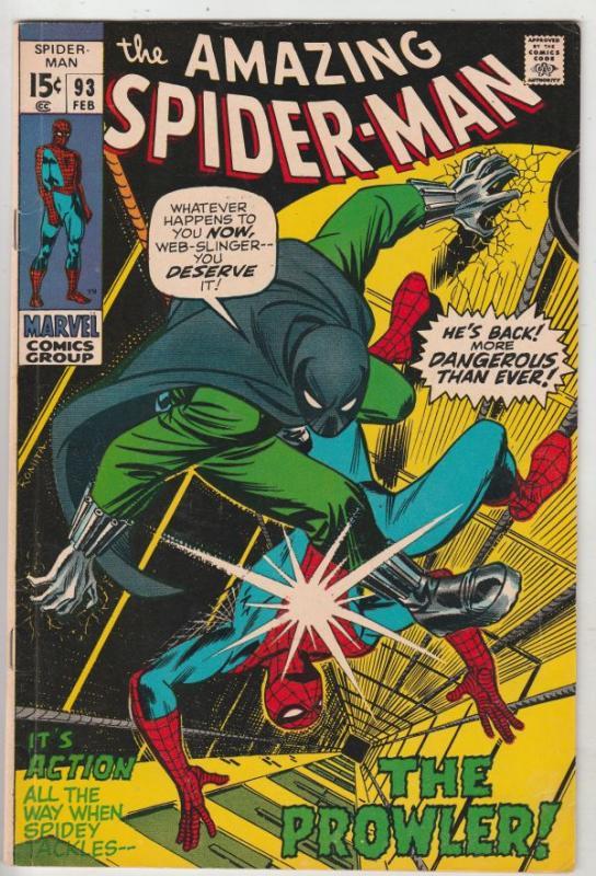 Amazing Spider-Man #93 (Feb-71) FN/VF+ High-Grade Spider-Man