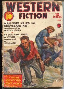 Western Fiction 9/1939-Graveyard Kid-Peter Dawson-Gunnison Steele-P