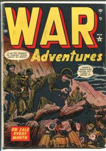 WAR ADVENTURES #4 1952-ATLAS-RUSS HEATH-DAVY BERG-AL HARTLEY-vg