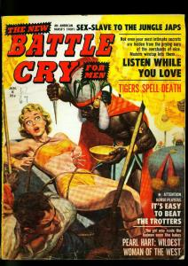 Battle Cry Pulp Magazine January 1960- Witch Doctor Shrunken Heads VG