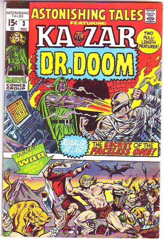 Astonishing Tales #3 (Dec-70) VF High-Grade Ka-Zar, Doctor Doom