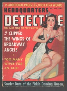 Headquarters Detective 5/1942-spicy stocking7 lingerie pin-up girl-Posed  pho...