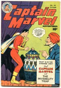 Captain Marvel Adventures #101 1949- Seance cover- Golden Age Fawcett VG+