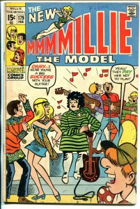 Millie The Model #179 1970-dance cover- fashion page-VG
