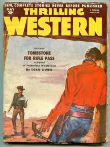 Thrilling Western Pulp May 1953- Tombstone to Rifle Pass VG/F