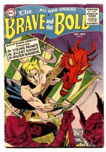 BRAVE AND THE BOLD #2 1955-DC COMICS-JOE KUBERT-RUSS HEATH