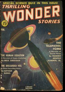 THRILLING WONDER STORIES 1939 FEB-COOL SCI-FI PULP VG