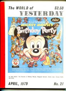World of Yesterday #21 4/1979-Mickey Mouse-Disney records-star's obits-VG