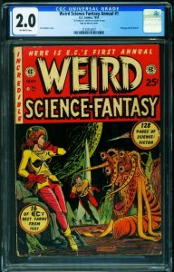 Weird Science-Fantasy Annual #1 CGC 2.0 1952E.C. annual-Signed by Feldstein-2...