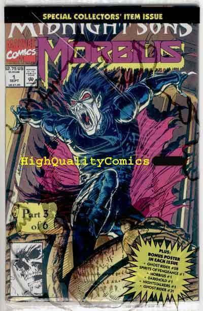 MORBIUS the Living Vampire #1, NM+, seal w / poster, Ghost Rider, 1992