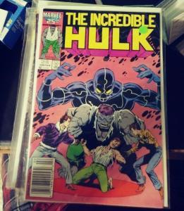 Incredible Hulk  # 328 1986  Marve grey hulk banner  1ST PETER DAVID HULK