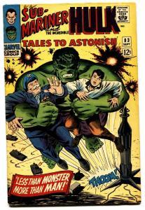 TALES TO ASTONISH #83comic book-HULK/SUB-MARINER-1966 FN