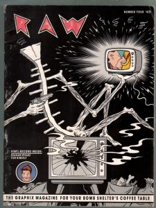 Raw #4 1982-flexi disc-Maus Comics-incredible art-VG