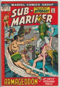 Sub-Mariner #51 (Jul-72) VF- High-Grade Sub-Mariner (Prince Namor)