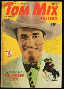 TOM MIX WESTERN #24-GOLDEN AGE WESTERN G