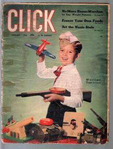 Click 1/1944-Wartime Toys with pix-Joan Blondell-cheesecake pix-FR