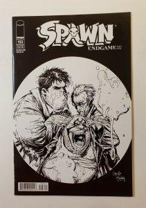 Spawn #193 Image Comics 2009 VF/NM Rare Black & White Variant End Game Part 9