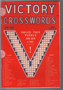 Victory Crosswords #1 6/1942-1st issue-WWII era-VG