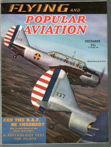 Popular Aviation 12/1940-North American O-47A plane cover-WWII-Nazis-FN