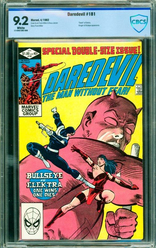 Daredevil #181 CGC Graded 9.2 Death of Elektra. Kingpin & Bullseye appearance.