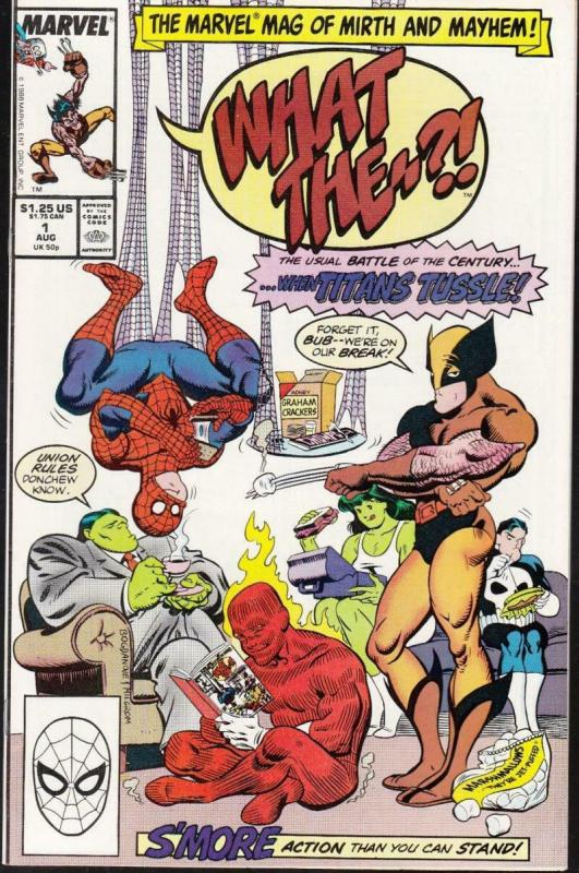WHAT THE #1, VF, Punisher, Wolverine, Spider-man, Hulk, 1988, Marvel