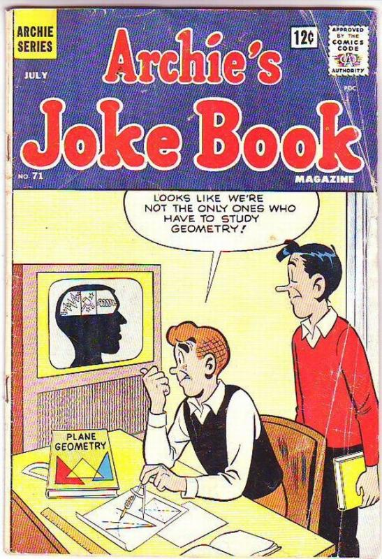 Archie's Joke Book #71 (Jul-63) GD/VG Affordable-Grade Archie, Betty, Veronic...