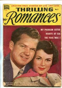 THRILLING ROMANCES #5-1949-STANDARD-BARBARA HALE-NICE ART-BILL WILLIAMS-fr