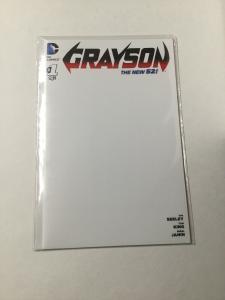 Grayson 1 Nm Near Mint Blank Variant DC Comics