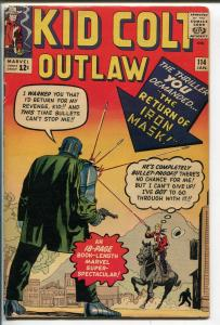 KID COLT OUTLAW  #114-1964-MARVEL-JACK  KIRBY-IRON MASK-JOE MANEELY-vg+