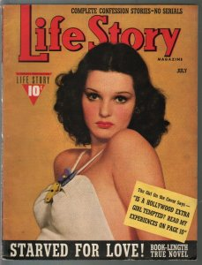 Life Story 7/1940-pin-up photo cover-scandals-exploitation-sensationalism-pulp-F