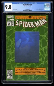 Spider-Man (1990) #26 CGC NM/M 9.8 White Pages Hologram Cover!