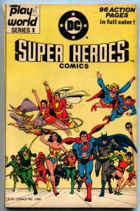 Lionel Play World Super Heroes Comics #1 1980- DC Superman Batman FN-