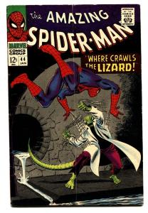 AMAZING SPIDER-MAN #44 comic book 1967-2nd APPEARANCE LIZARD- MARVEL COMICS