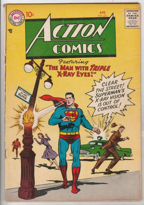 Action Comics #227 (Apr-57) VG/FN+ Mid-Grade Superman