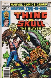 Marvel Two-in-One #35 ORIGINAL Vintage 1978 Thing Skull Slayer