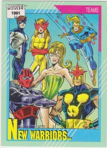 1991 Marvel Universe #156 New Warriors