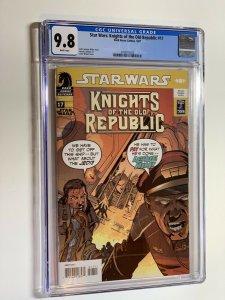 Star Wars Knights Of The Old Republic 17 cgc 9.8 wp dark horse vhtf! Rare!!!
