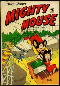 Mighty Mouse #46 1953- St John Golden Age- Roller Coaster cover VG-