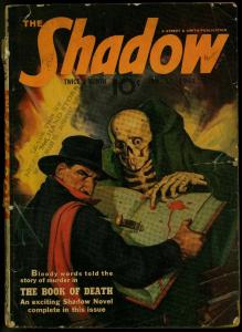 The Shadow Pulp January 15 1942- Book of Death- Skull cover G
