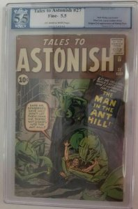 1962 Marvel ~ Tales to Astonish #27~ PGX 5.5 (FN-), 1st Appearance of Henry Pym
