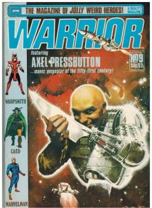 WARRIOR (1982 QUALITY) 9 FN- Jan. 1983 ALAN MOORE+++++