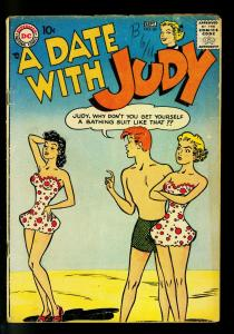 Date with Judy #60 1957- Swimsuit cover- DC Humor- VG-